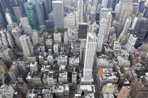 Canvas Prints New York new york: cityscape viewed from top of empire state building