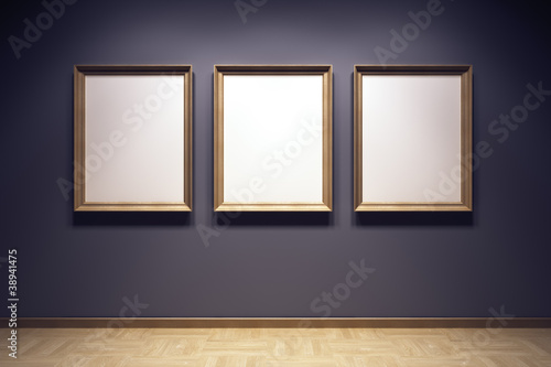 blank frames in the gallery Canvas-taulu