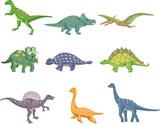 Fototapeta Dinusie - cartoon dinosaur icon