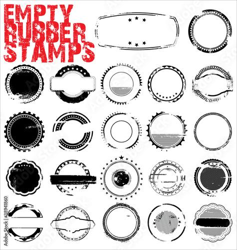 Fotografía  Empty Grunge Rubber Stamps - vector illustration