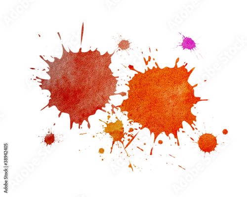 Fotografía  Salpicaduras pintura, fondo abstracto