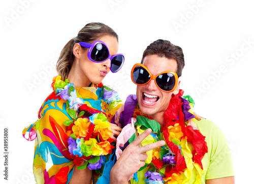 Canvas Prints Carnaval Happy couple.