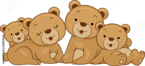 Wall Murals Bears Bear Family