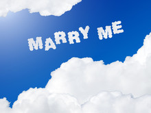 Marry Me Text In The Sky