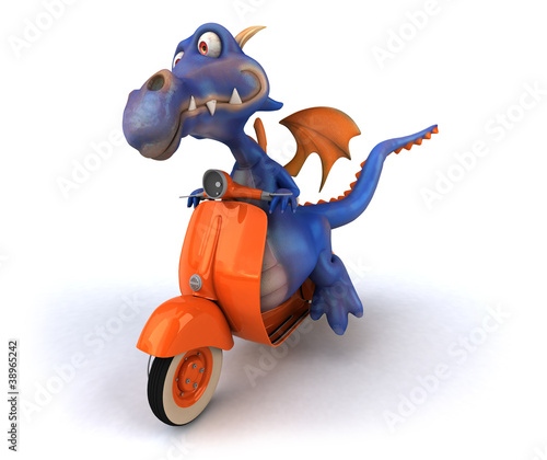 Poster Motorcycle Dragon