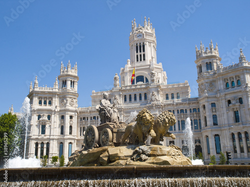 In de dag Madrid Cibeles Fountain and Cibeles Palace, Madrid