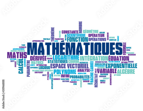 "Nuage de Tags ""MATHEMATIQUES"" (maths formule équations sciences ..."