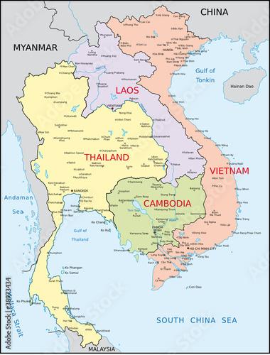Thailand Vietnam Laos Kambodscha Buy This Stock Vector And