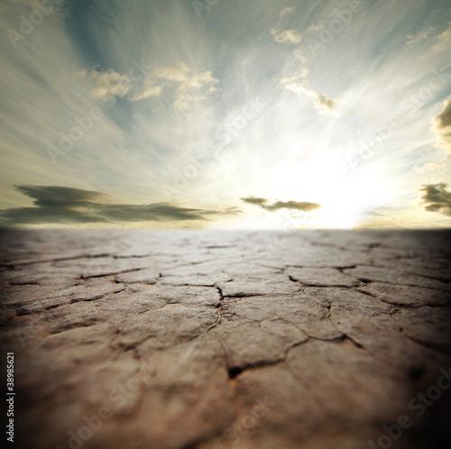 Deurstickers Droogte Drought