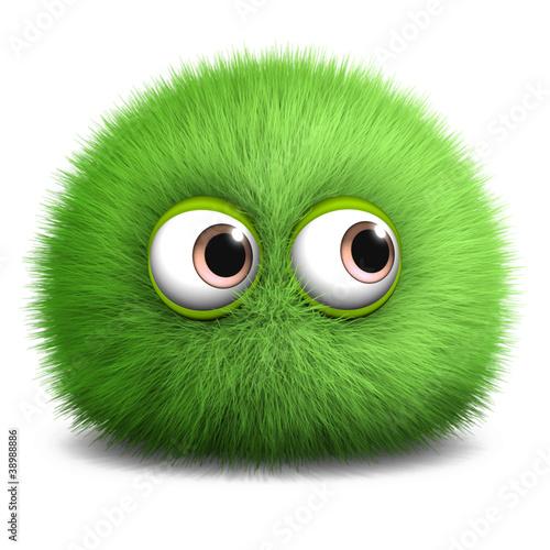 Poster de jardin Doux monstres hairy monster