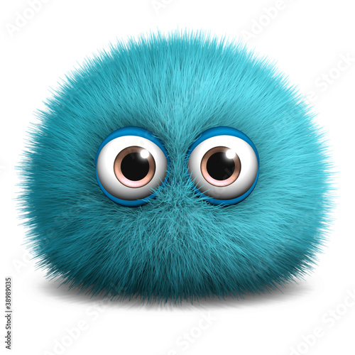Tuinposter Sweet Monsters furry blue monster