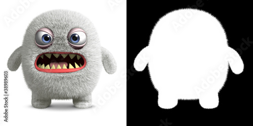 Foto op Aluminium Sweet Monsters angry yeti