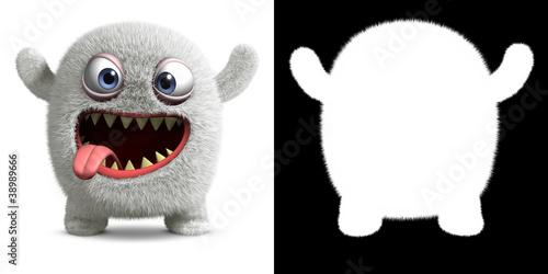 Poster de jardin Doux monstres halloween monster