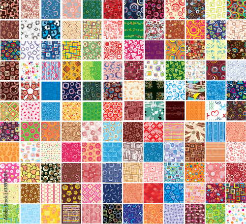 Poster Kunstmatig Big collection patterns on different topics
