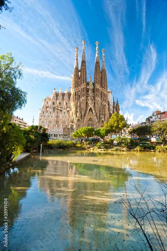 Foto op Canvas Barcelona La Sagrada Familia, Barcelona, spain.
