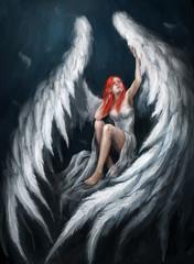 Fototapeta Erotyka Angel girl