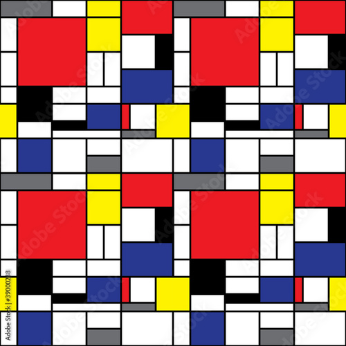 Foto  Repeating Mondrian Background