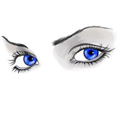 Eyes isolated