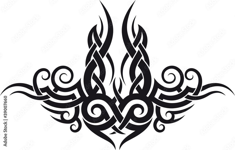Fototapeta Maori tribal tattoo design