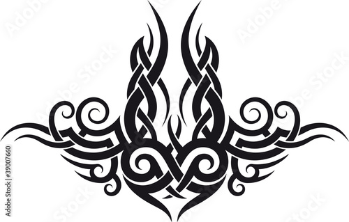 Fototapeta Maori tribal tattoo design
