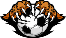 Soccer Ball With Tiger Claws V...