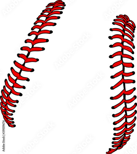 Photo  Baseball Laces or Softball Laces Vector Image