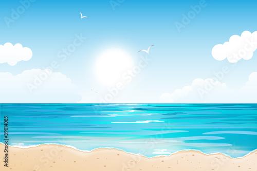 Fotografia Summer Tropical Beach