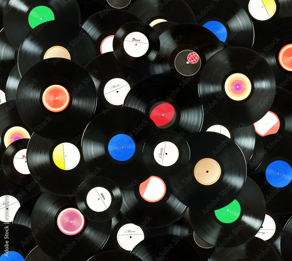 Vinyl Records Background Vinyl Wall Mural Record Wallpaper Murals