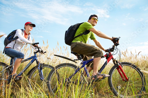 Photo sur Toile Cyclisme cycling in summertime