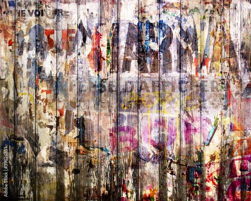 Foto op Aluminium Pop Art fond planche de bois grunge - concept