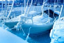 Segelboot Im Winter