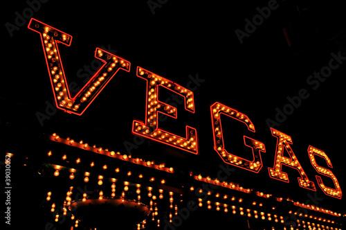Poster Las Vegas Vegas illuminated sign