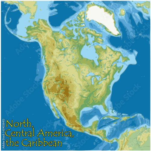 north central america caribbean map flag emblem - Buy this ...