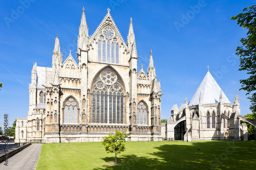 Fotografia  cathedral of Lincoln, East Midlands, England