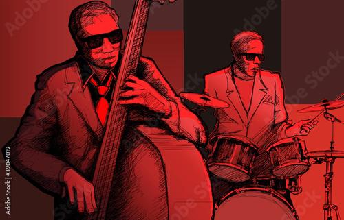 In de dag Muziekband jazz band