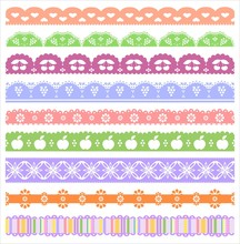 Digital Scrapbook Borders Set
