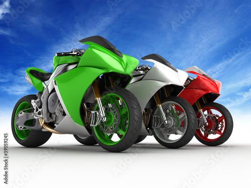 Poster Motocyclette Moto italia