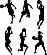 Basketball Female Women Silhou...
