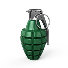Mk-2 Hand Grenade Isolated On White