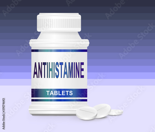 Photo Antihistamine medication.