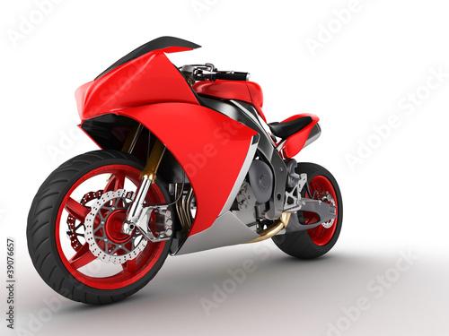 Poster Motocyclette Moto prototype