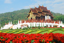 Traditional Thai Architecture In The Lanna Style ,