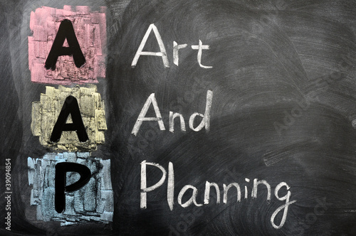 Canvas Prints Monkey Acronym of AAP for Art and Planning