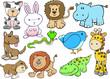 Animal Wildlife Safari Vector Set