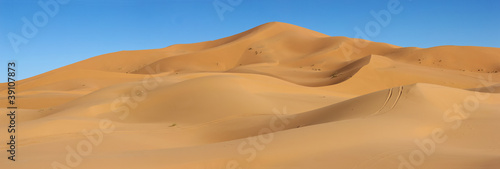 Canvas Print dunes of Erg Chebbi in Morocco