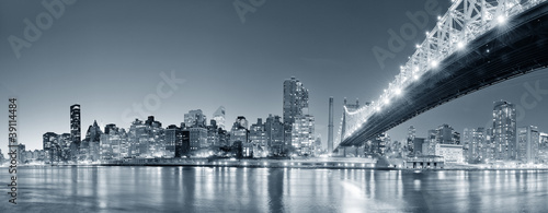 New York City night panorama