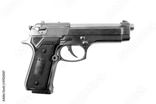 Photo Beretta gun isolated on the white background