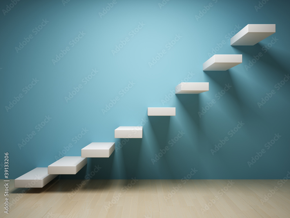 Fototapety, obrazy: Abstract stair