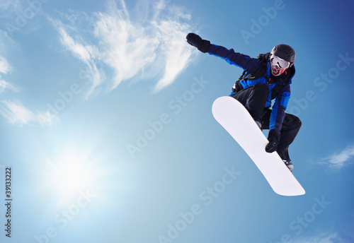 Poster Glisse hiver snowboarding