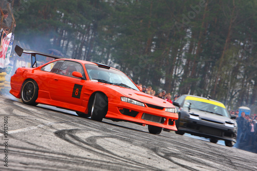 Poster Voitures rapides Drift competition